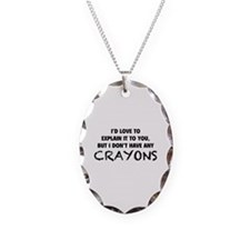 Crayons Necklace Oval Charm