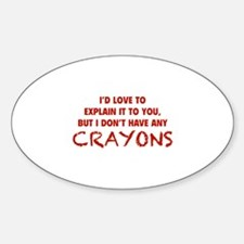 Crayons Sticker (Oval)