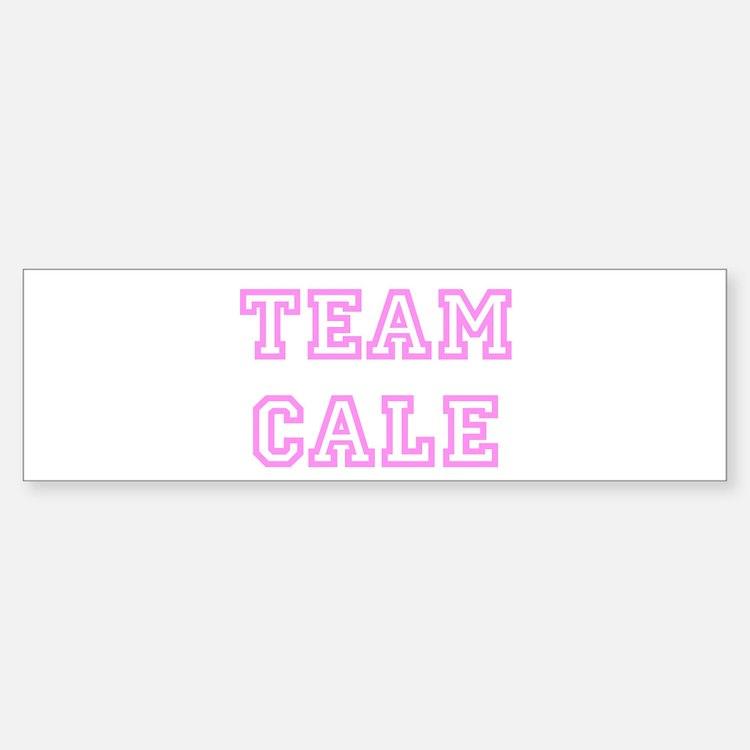 Pink team Cale Bumper Bumper Bumper Sticker