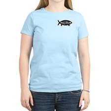 Evolve Fish Symbol Women's Pink T-Shirt