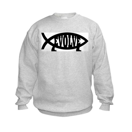 Evolve Fish Symbol Kids Sweatshirt