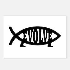Evolve Fish Symbol Postcards (Package of 8)