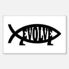 Evolve Fish Symbol Rectangle Decal