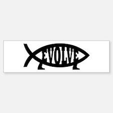 Evolve Fish Symbol Bumper Bumper Bumper Sticker