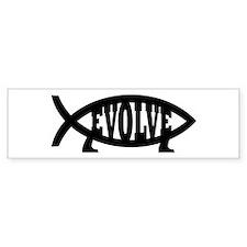 Evolve Fish Symbol Bumper Car Car Sticker