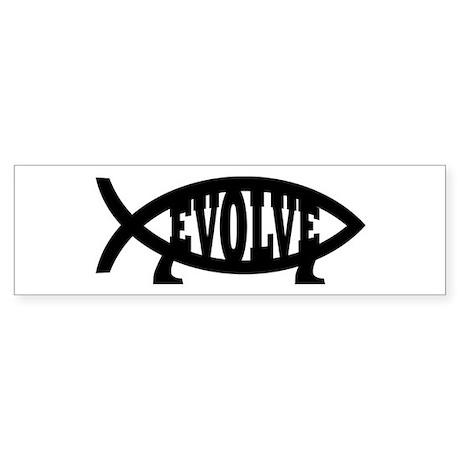 Evolve Fish Symbol Bumper Sticker