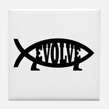 Evolve Fish Symbol Tile Coaster