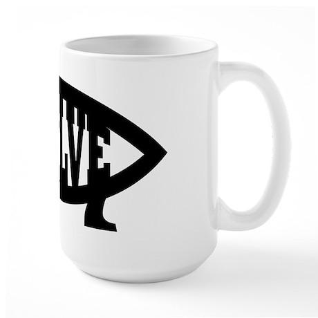 Evolve Fish Symbol Large Mug