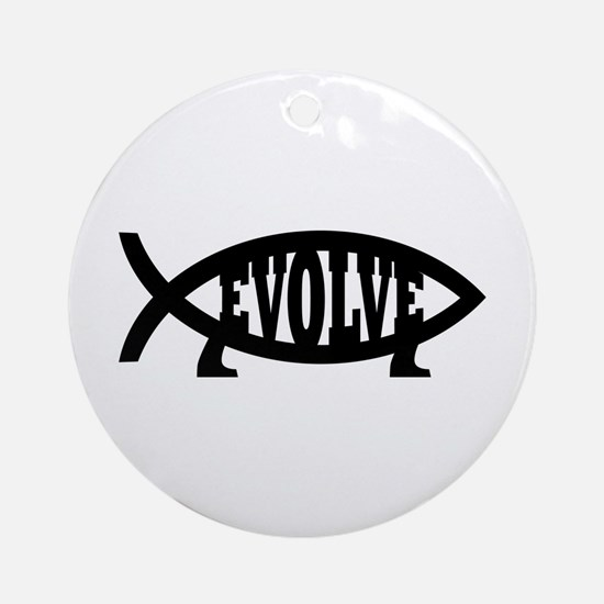 Evolve Fish Symbol Ornament (Round)