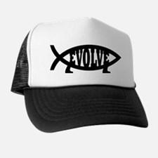 Evolve Fish Symbol Trucker Hat