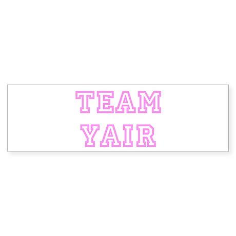 Pink team Yair Bumper Sticker