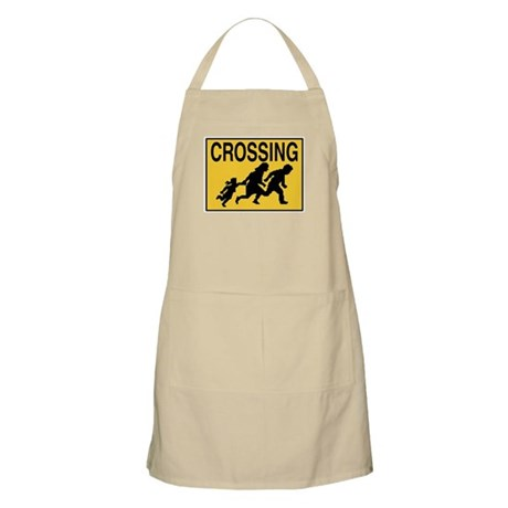 Illegal Alien Crossing Sign BBQ Apron