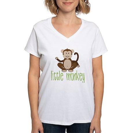 Little Monkey Women's V-Neck T-Shirt
