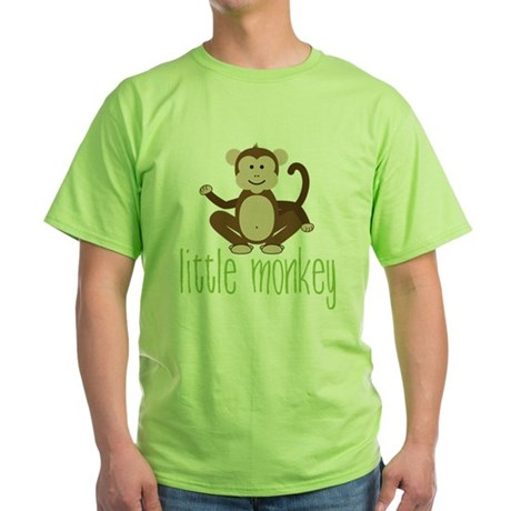 Little Monkey Green T-Shirt