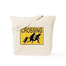Illegal Alien Crossing Sign Tote Bag