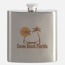 Cocoa Beach - Palm Trees Design. Flask