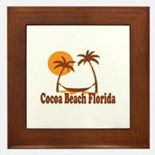 Cocoa Beach - Palm Trees Design. Framed Tile