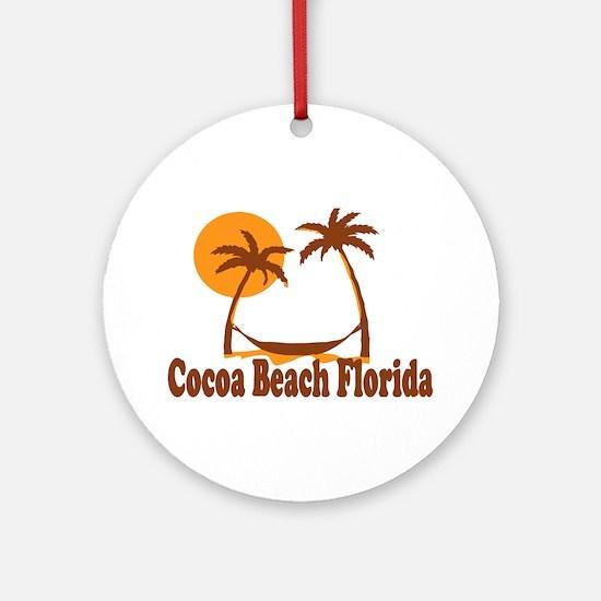 Cocoa Beach - Palm Trees Design. Ornament (Round)