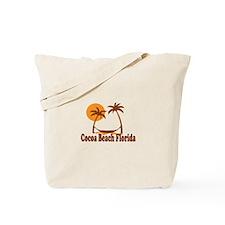 Cocoa Beach - Palm Trees Design. Tote Bag