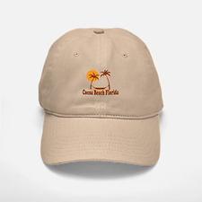 Cocoa Beach - Palm Trees Design. Baseball Baseball Cap