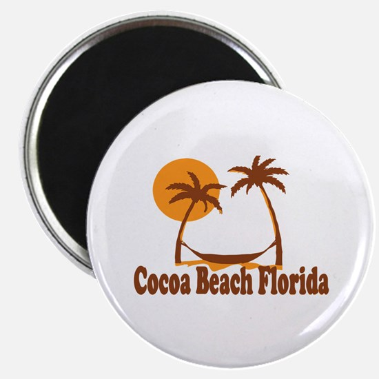 Cocoa Beach - Palm Trees Design. Magnet