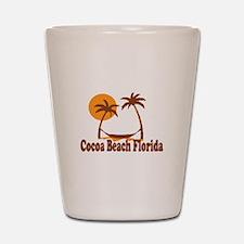 Cocoa Beach - Palm Trees Design. Shot Glass
