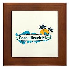 Cocoa Beach - Surf Design. Framed Tile