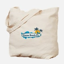 Cocoa Beach - Surf Design. Tote Bag