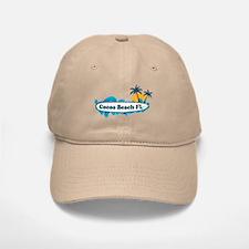 Cocoa Beach - Surf Design. Baseball Baseball Cap