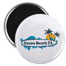 Cocoa Beach - Surf Design. Magnet