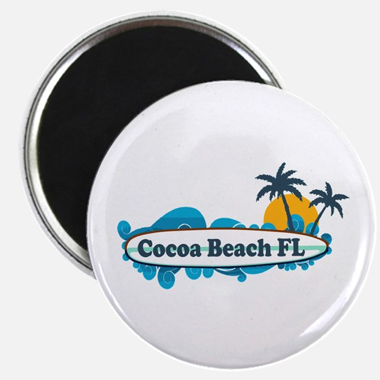 Cocoa Beach - Surf Design. Magnet