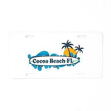 Cocoa Beach - Surf Design. Aluminum License Plate