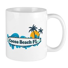 Cocoa Beach - Surf Design. Small Mug