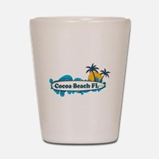 Cocoa Beach - Surf Design. Shot Glass