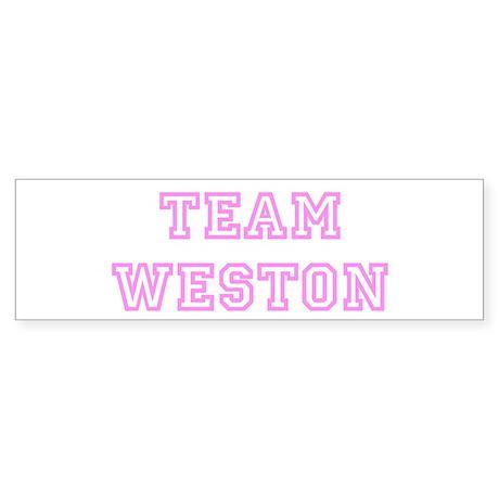 Pink team Weston Bumper Sticker