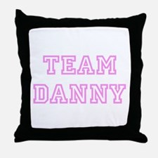 Pink team Danny Throw Pillow