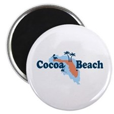 Cocoa Beach - Map Design. Magnet