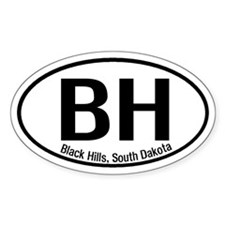 Black Hills, South Dakota Oval Decal