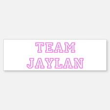 Pink team Jaylan Bumper Car Car Sticker
