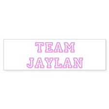 Pink team Jaylan Bumper Car Sticker
