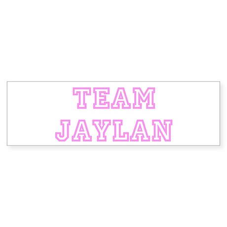 Pink team Jaylan Bumper Sticker