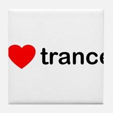 I Love Trance DJ Tile Coaster