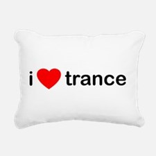 I Love Trance DJ Rectangular Canvas Pillow