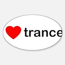 I Love Trance DJ Sticker (Oval)