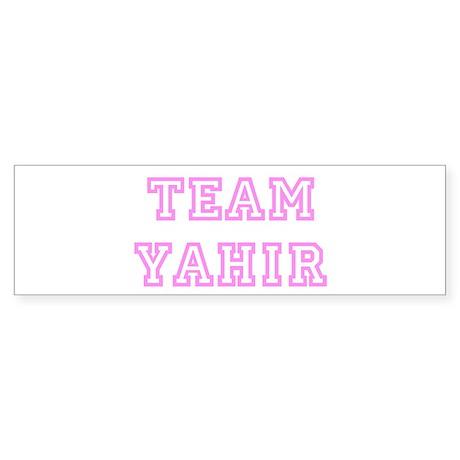 Pink team Yahir Bumper Sticker