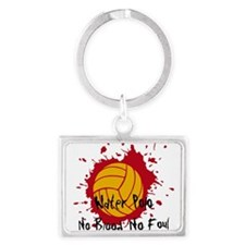No Blood No Foul Landscape Keychain