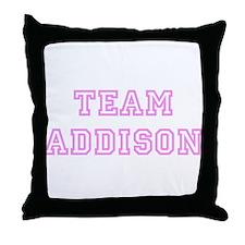 Pink team Addison Throw Pillow