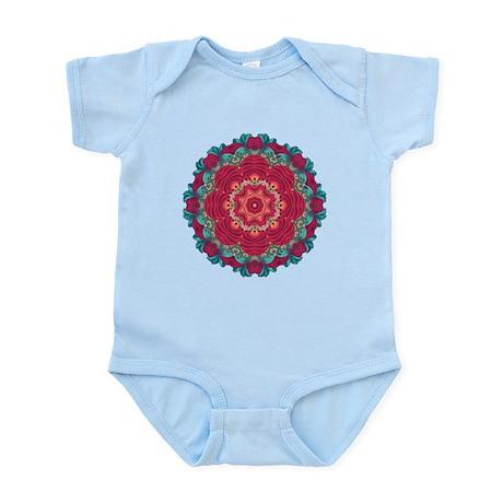 red lotus mandala Infant Bodysuit