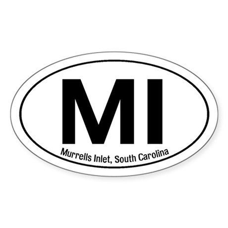 Murrells Inlet, South Carolina Oval Sticker