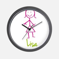 Lisa-cute-stick-girl.png Wall Clock